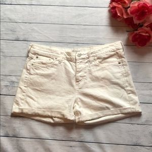 Madewell White High-Waisted Jean Shorts